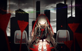 anime girls, closed eyes, Kagerou Project