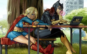 Supergirl, Batgirl, artwork