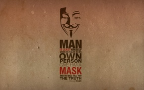 Guy Fawkes mask, quote, Anonymous, Guy Fawkes
