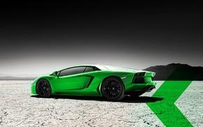 selective coloring, car, Lamborghini