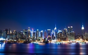 cityscape, Manhattan, New York City, night