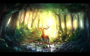 deer, fantasy art