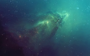 space art, nebula, blue, TylerCreatesWorlds, space