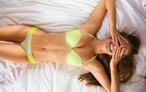Nina Agdal, girls, smiling, model, figure