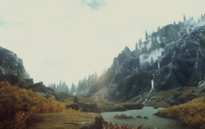 mountain, tundra, video games, The Elder Scrolls V Skyrim
