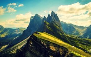 mountain, Dolomites mountains, ridges
