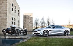 Aston Martin, retro, supercar, swimming pool, cars