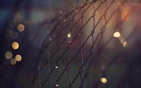 fence, depth of field, bokeh
