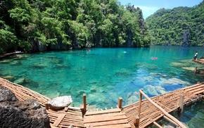 lake, rest, greenery, water, mountain