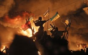 flag, Ukraine, Kyiv, Maidan, Ukrainians, protestors