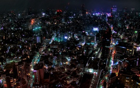 city, night, cityscape, Tokyo