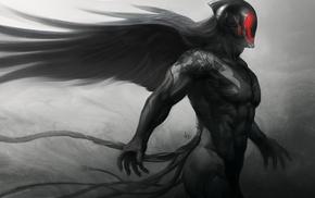fantasy art, demon, concept art, Artgerm, Ultron