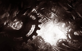 concept art, artwork, fantasy art, machine, gears, clockwork
