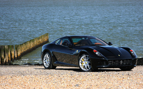 black, wheels, sportcar, Ferrari, supercar