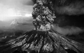 white, stunner, black background, volcano