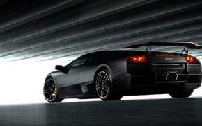 Italy, sportcar, tuning, black, gray background