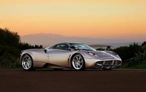 sunset, sportcar, wheels, evening, supercar