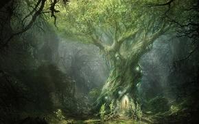лес, фантастическое исскуство