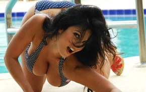 fashion model, Denise Milani, swimwear, girls, boobs