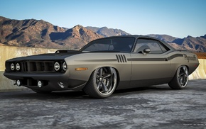 cars, color, mountain, tuning, Dodge