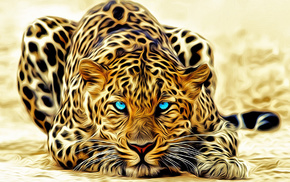 eyes, lies, 3D, leopard