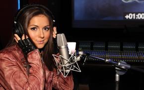 микрофон, Нюша, девушки, красавица, певица, студия