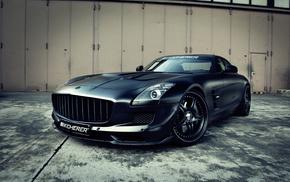 gray background, black, cars, tuning, wheels