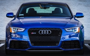 blue, headlights, Audi, auto, cars