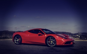 Ferrari, supercar, nature, photoshop, sportcar