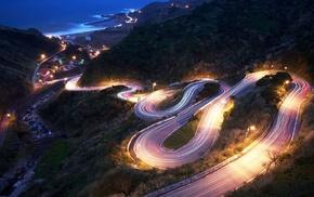 lighting, night, mountain, stunner, lights