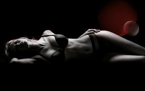 girl, figure, white, photoshop, background