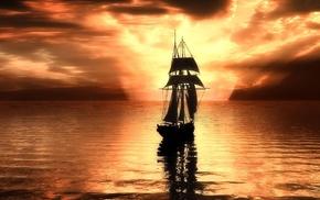 sky, sailfish, light, photoshop, clouds