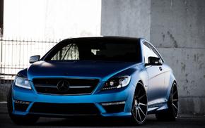 суперкар, Мерседес бенц, Mercedes-Benz, автомобили, синий