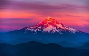 горы, красивые, снег, красиво, природа, пейзаж