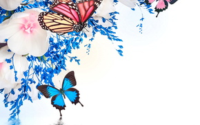 white, 3D, photoshop, fantasy, blue background