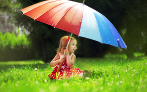 positive, children, macro, umbrella, girlie