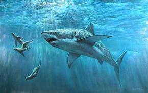 painting, stunner, predator, painting, ocean