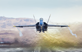 speed, jet fighter, mountain, aircraft, background
