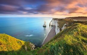 море, природа, утес, пейзаж