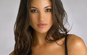 black bras, Barbara Stoyanoff, smooth skin, girl, brunette, brown eyes