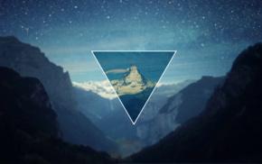 triangle, polyscape, landscape