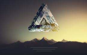 Penrose triangle, landscape, polyscape