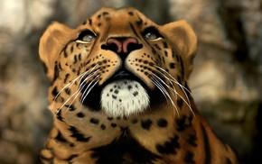 3D, predator, leopard, photoshop