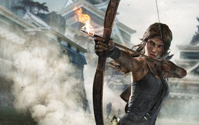 smoke, video games, Tomb Raider, Lara Croft, building