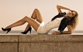 heels, Jessica Hart, dress, blonde, legs, tight clothing