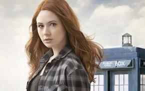 Karen Gillan, face, Amy Pond, Doctor Who, redhead