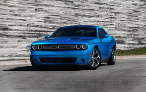 голубой, автомобили, дорога, Dodge