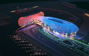 night, stunner, lighting, track, building
