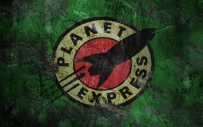 Futurama, fictional logo, fantasy art, planet express, logo