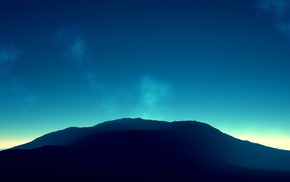 mountain, nature